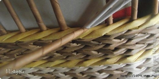 Закрытие послойного плетения, как закрыть послойное плетение, как закончить послойное плетение корзины,