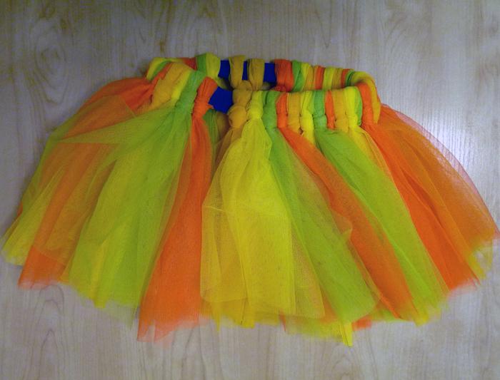 Как делать юбки из сетки