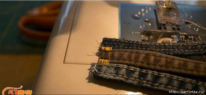 Браслет из джинсовых кромок (4) (700x324, 153Kb)