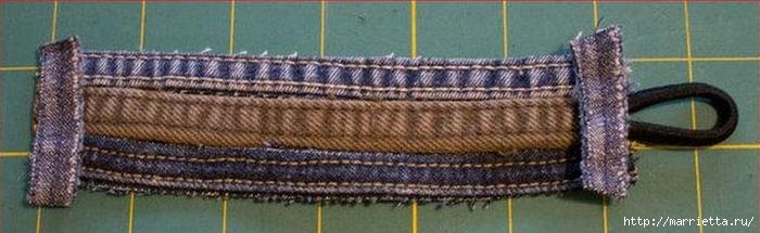 Браслет из джинсовых кромок (8) (700x215, 136Kb)