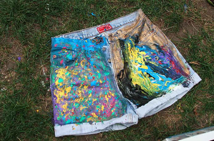 удалить краску с джинсов
