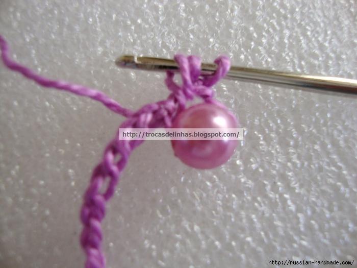 Как связать крючком нежное ожерелье. Мастер-класс (11) (700x525, 238Kb)