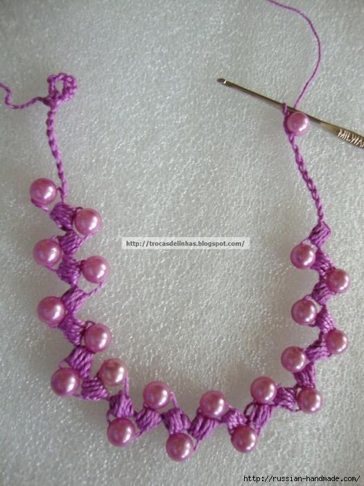 Как связать крючком нежное ожерелье. Мастер-класс (17) (525x700, 305Kb)