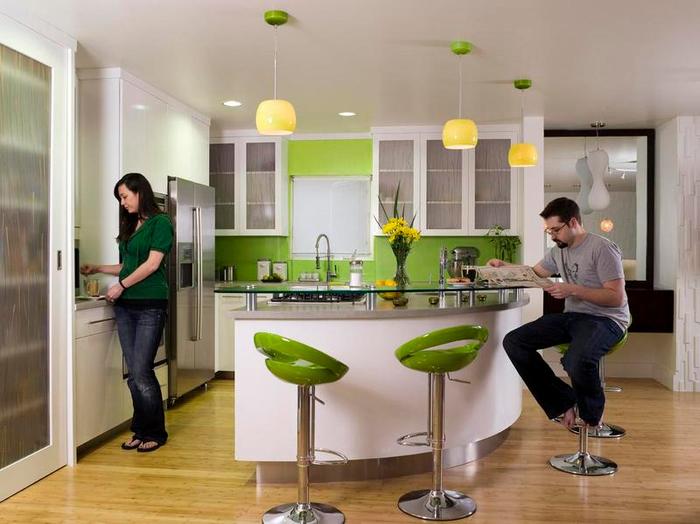 Мебель для кухни в зеленых тонах – природное тепло в любом пространстве (11) (700x524, 319Kb)