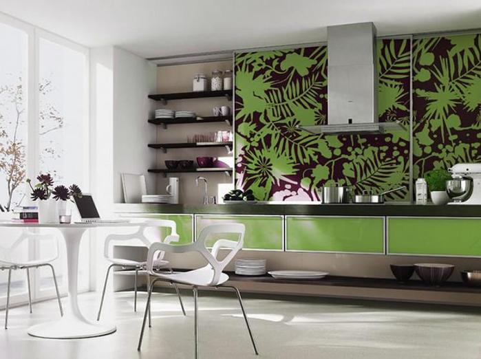 Мебель для кухни в зеленых тонах – природное тепло в любом пространстве (15) (700x522, 292Kb)