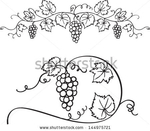 Превью stock-vector-decorative-grapes-vine-vector-ornament-144975721 (450x394, 93Kb)