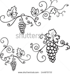 Превью stock-vector-decorative-grapes-vine-vector-ornament-144975733 (445x470, 101Kb)
