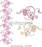 Превью stock-vector-decorative-grapes-vine-vector-ornament-border-144975685 (430x470, 125Kb)
