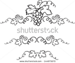 Превью stock-vector-decorative-grapes-vine-vector-ornament-144975670 (450x382, 77Kb)