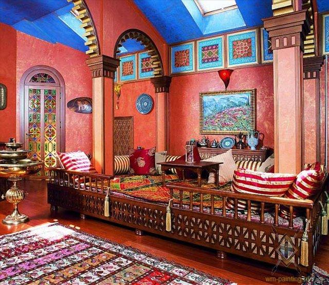 марокканский стиль в интерьере фото 4 (640x556, 481Kb)