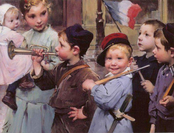 1Henri-Jules-Jean-Geoffroy-dit-Geo_Le-14-juillet-des-petits-ecoliers (700x535, 79Kb)