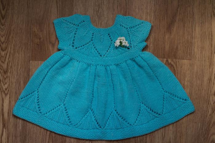 Платья для девочки 6 месяцев спицами