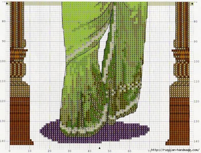 три подушки с вышивкой крестиком. Схемы (5) (700x534, 386Kb)