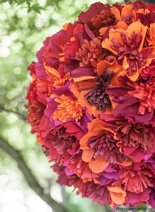 Цветочный шар из бумаги для свадебного торжества (1) (499x682, 249Kb)