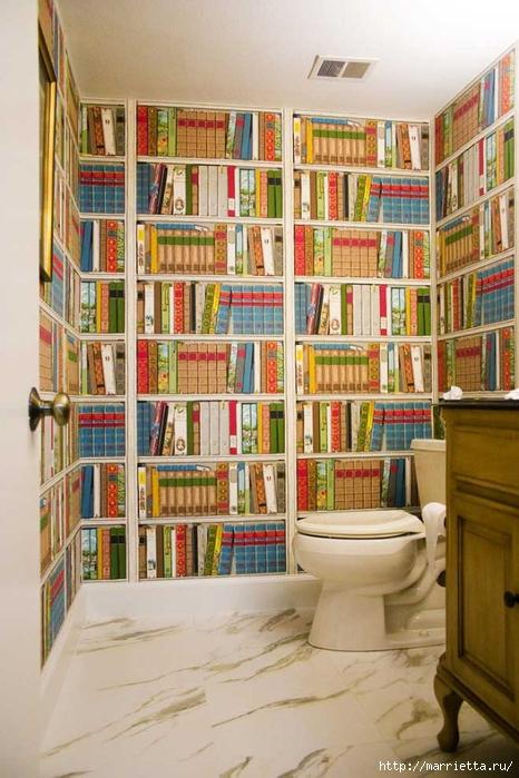 фотообои - книжные полки, библиотека в интерьере (3) (466x700, 272Kb)