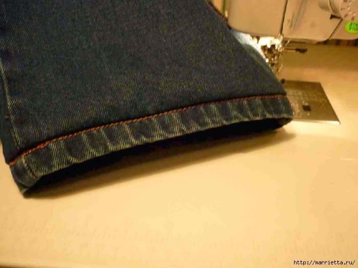 Подшиваем джинсы с сохранением потертого края (1) (700x525, 194Kb)