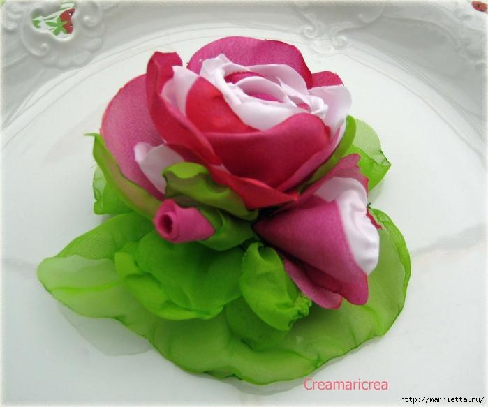 Ванильные розы из шелка. Мастер-класс (5) (700x583, 234Kb)