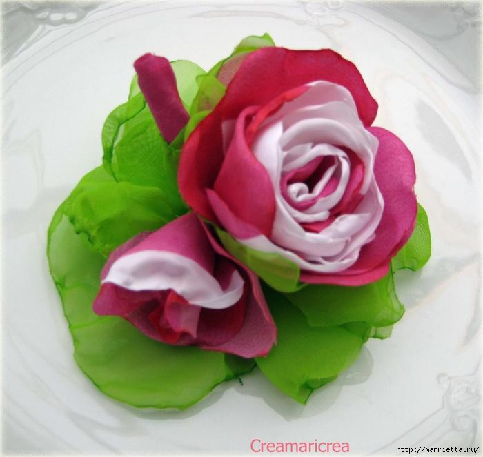 Ванильные розы из шелка. Мастер-класс (6) (700x663, 266Kb)