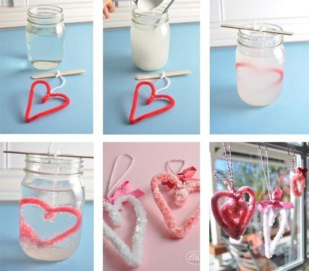 Как сделать сахарные сердечки