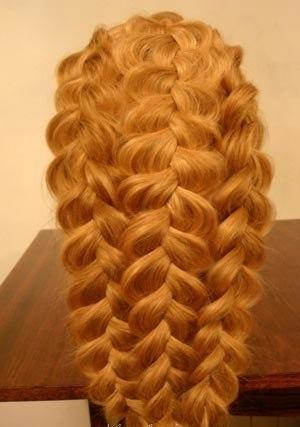 Прическа три косы в одну