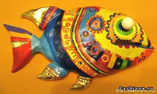 Рыбки из полимерной глины своими руками (9) (500x302, 123Kb)