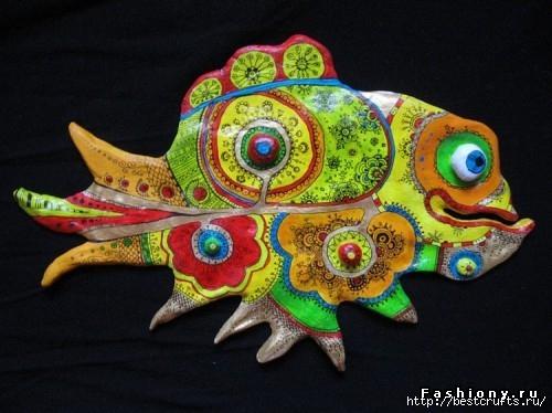 Рыбки из полимерной глины своими руками (13) (500x374, 132Kb)