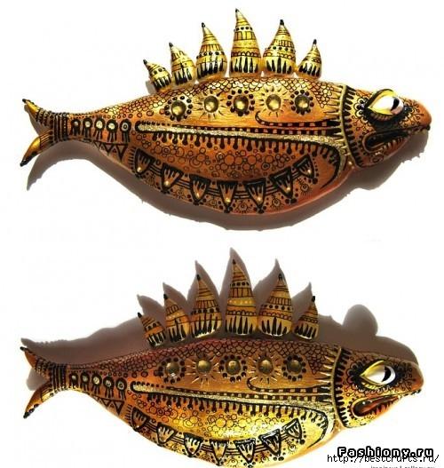 Рыбки из полимерной глины своими руками (20) (500x527, 181Kb)