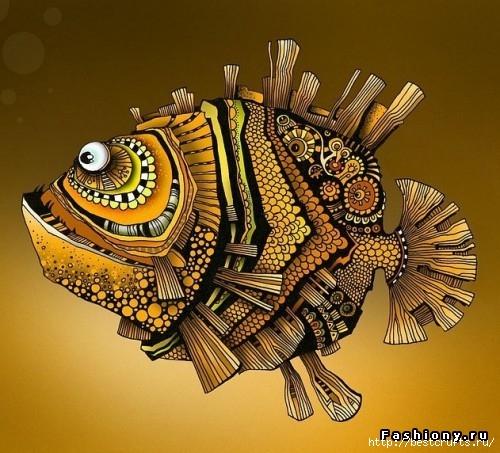 Рыбки из полимерной глины своими руками (23) (500x453, 187Kb)