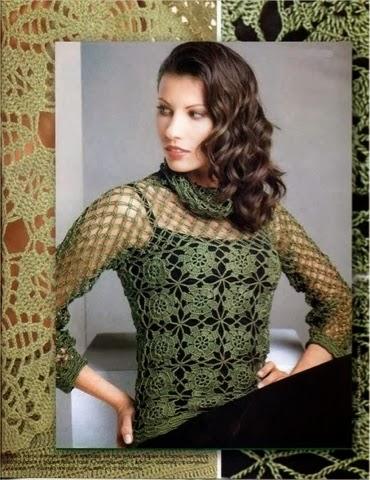 Красивые блузы и схемы вязания