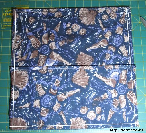 Подушка из джинсов для садовой скамейки (4) (510x467, 296Kb)