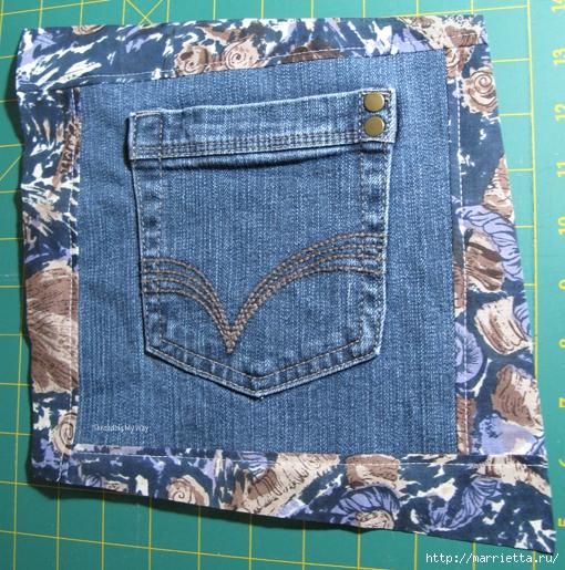 Подушка из джинсов для садовой скамейки (6) (510x515, 309Kb)