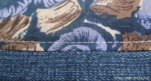 Подушка из джинсов для садовой скамейки (17) (510x276, 172Kb)
