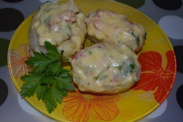 Картофель, фаршированный копченой курицей (604x403, 43Kb)