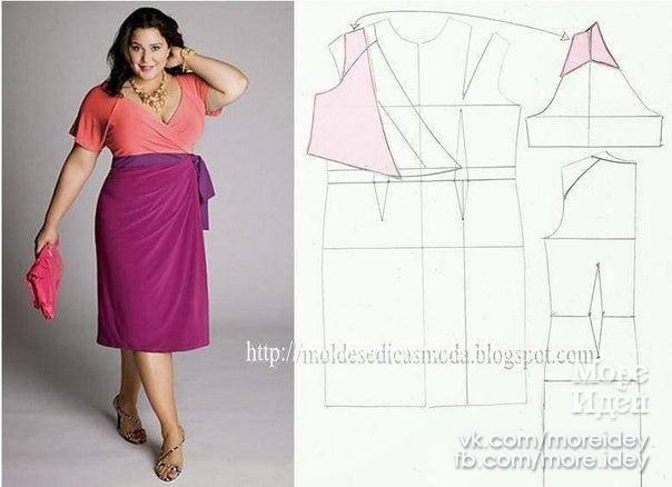 Сшить красивое платье фасоны для полных
