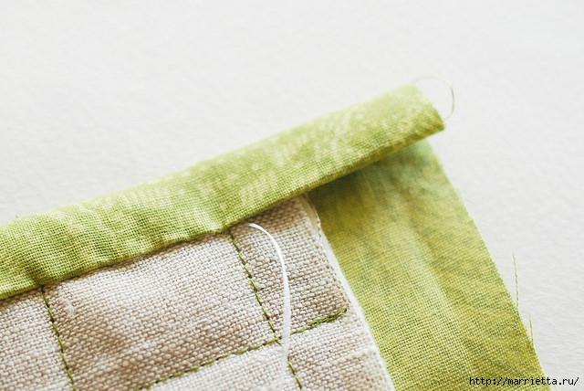 Стеганая салфетка с аппликацией ананаса. Лоскутное шитье (12) (640x428, 188Kb)