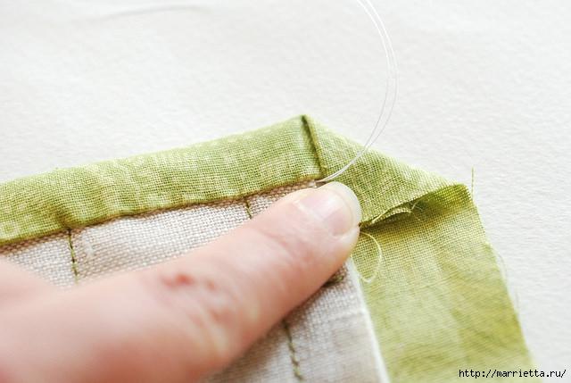 Стеганая салфетка с аппликацией ананаса. Лоскутное шитье (20) (640x429, 150Kb)