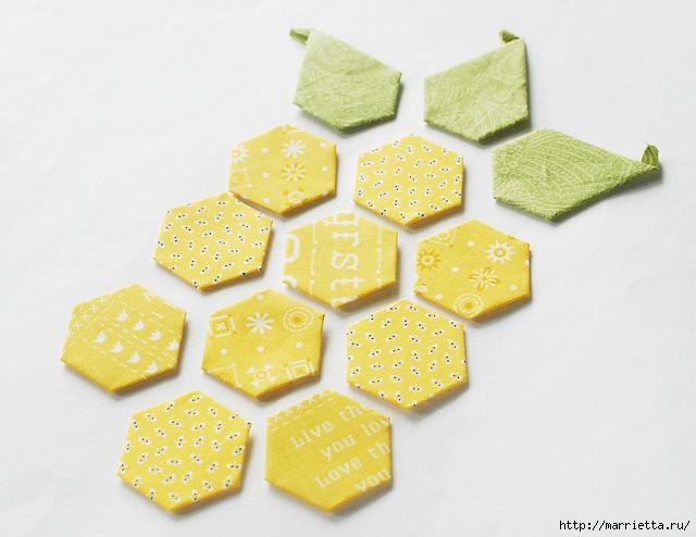 Стеганая салфетка с аппликацией ананаса. Лоскутное шитье (24) (640x494, 162Kb)