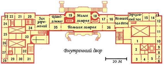 План дворца.