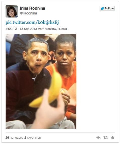 Обама с бананом (476x568, 206Kb)