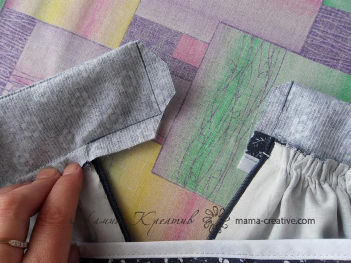 Как сделать пояс для юбки с молнией 39