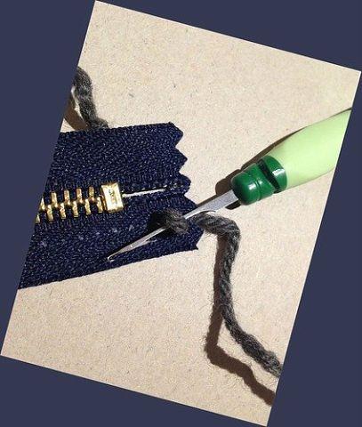 Как вшить молнию в вязаную кофту
