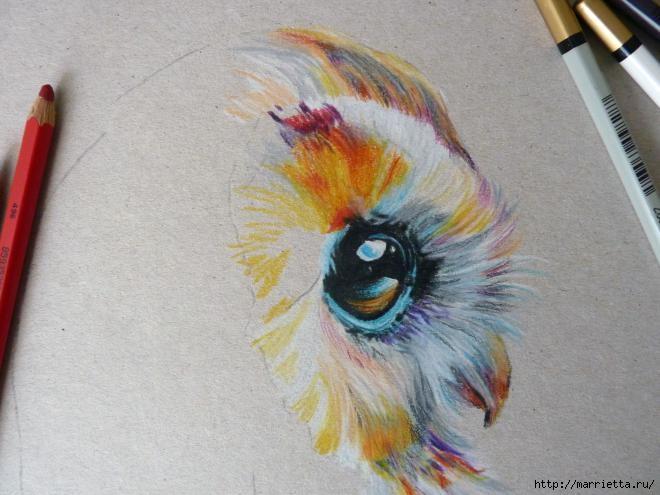 как рисовать акварельными карандашами: