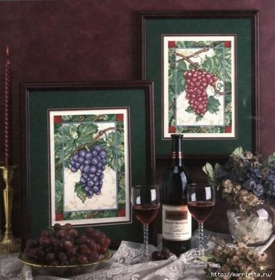 Виноградная лоза. Схемы вышивки крестом (6) (542x550, 171Kb)