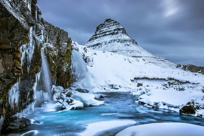гора Киркьюфелл исландия фото 9 (700x466, 409Kb)