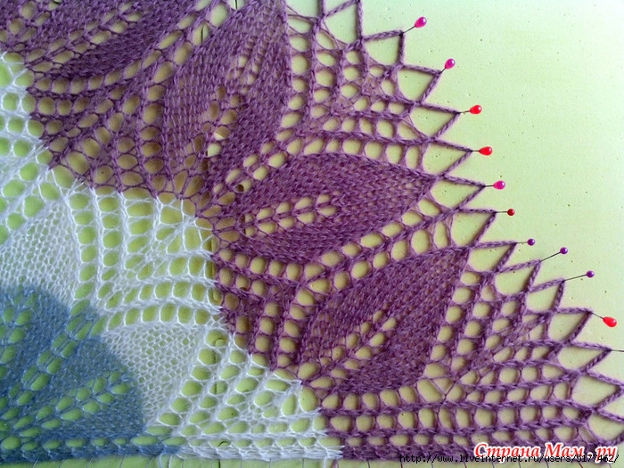 Схема шали харуни двойной каймой фото 275