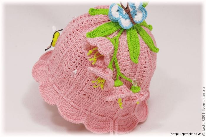 """钩针:女孩的帽子""""钟"""" - maomao - 我随心动"""