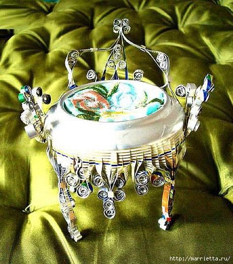 Царский трон из алюминиевой баночки. Мастер-класс (29) (462x524, 216Kb)