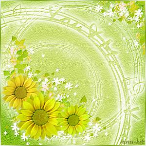 Подсолнухи-на-зеленом (300x300, 207Kb)