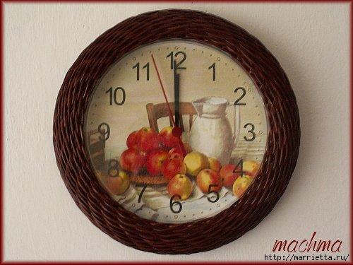 плетение-часы из газетных трубочек (2) (500x375, 148Kb)