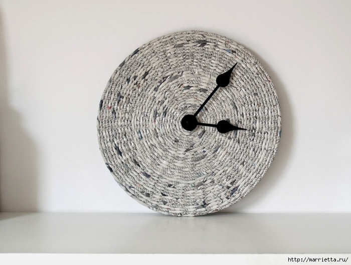 Плетение из газет и декупаж. ЧАСЫ (24) (700x530, 192Kb)